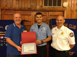 Firefighter honored for off-duty emergency response