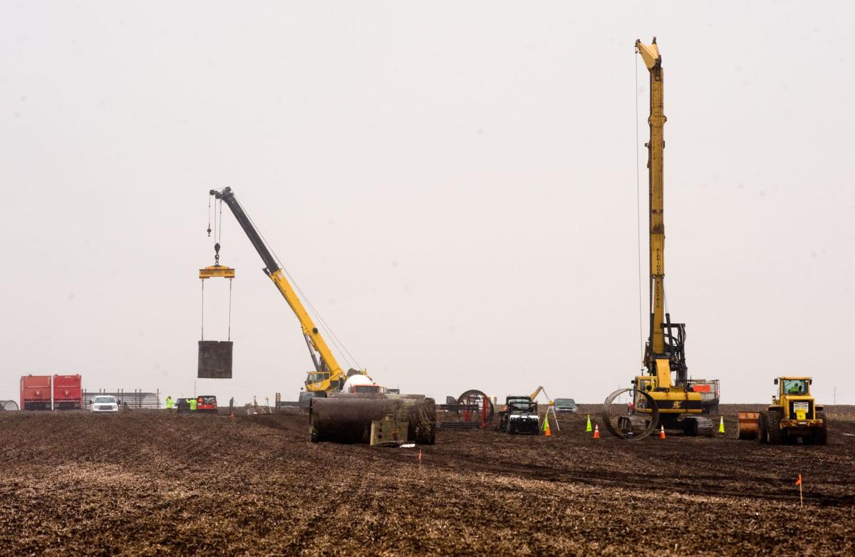 transmission line construction underway in coles county