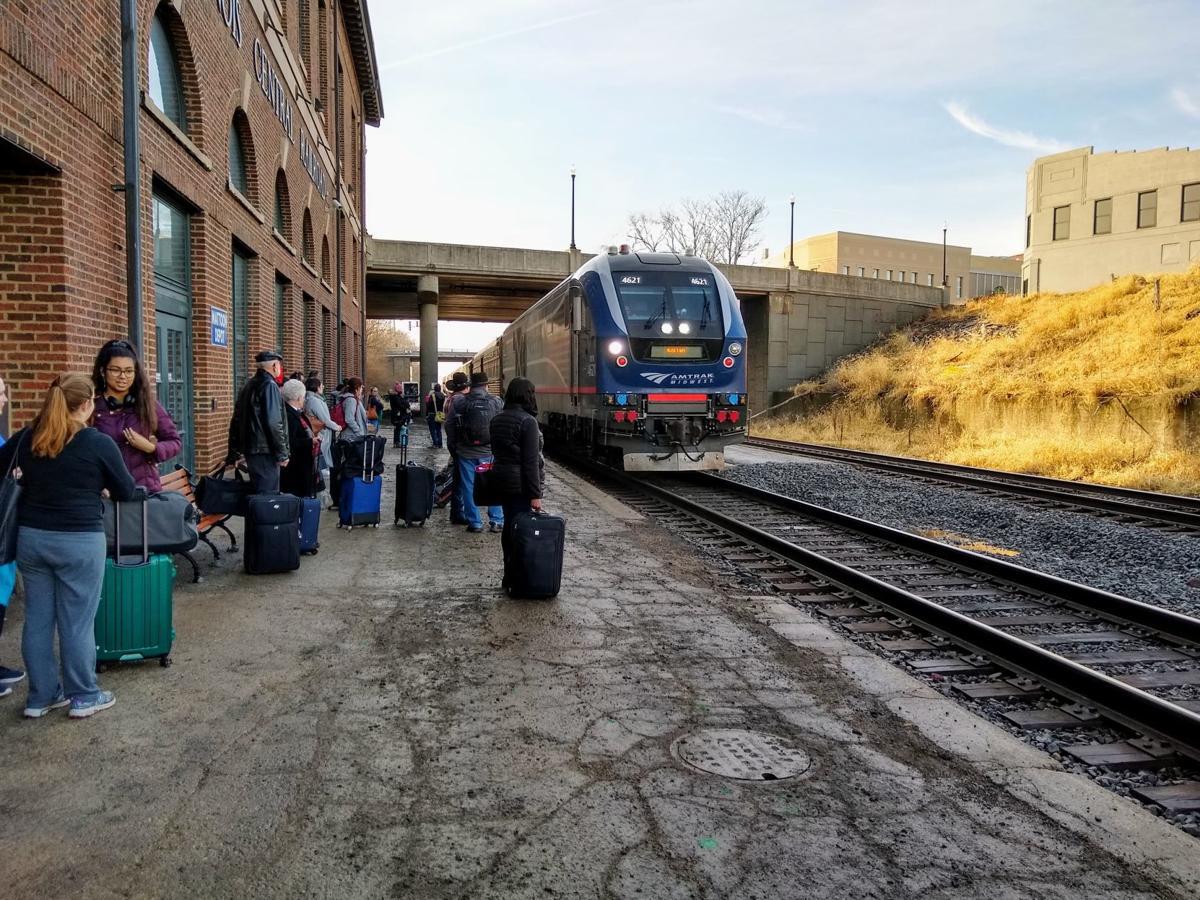 Amtrak passenger platform