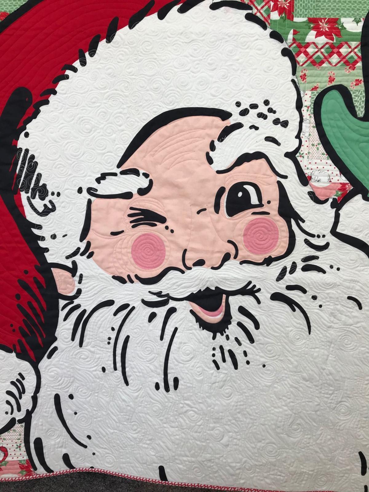 Santa quilt closeup