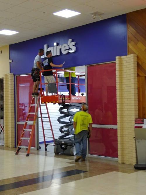 Claire's moving within mall
