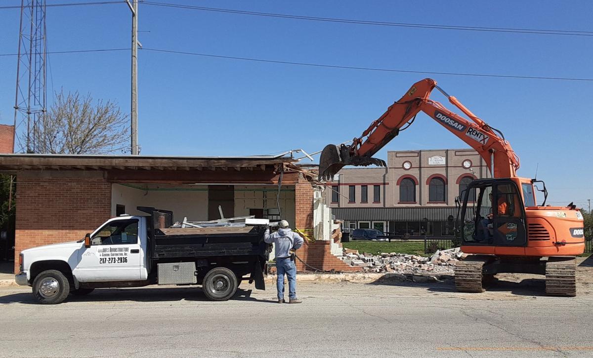 Demolition, front view