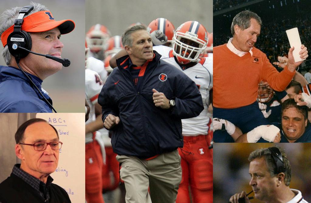 Last 15 University of Illinois head football coaches