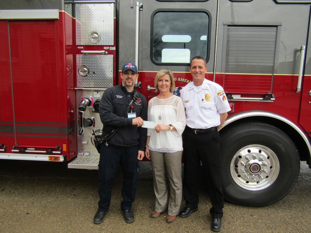 Firefighter donation
