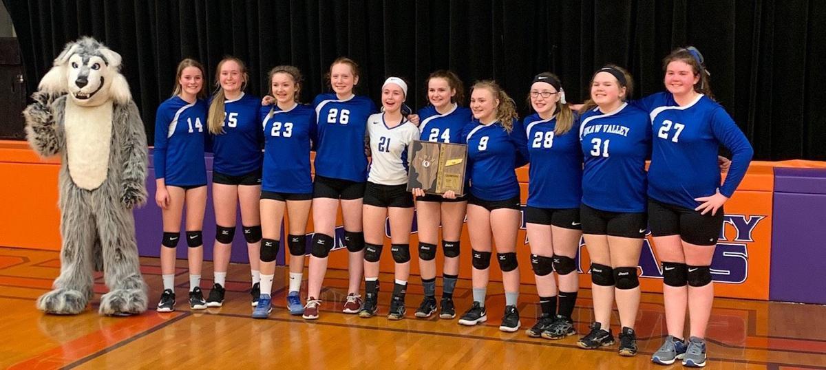 Okaw Valley eighth-grade volleyball