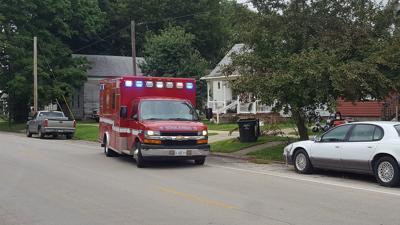 Charleston ambulance in Mattoon