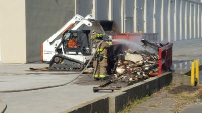 Fire extinguished in trash bin at Mattoon mall