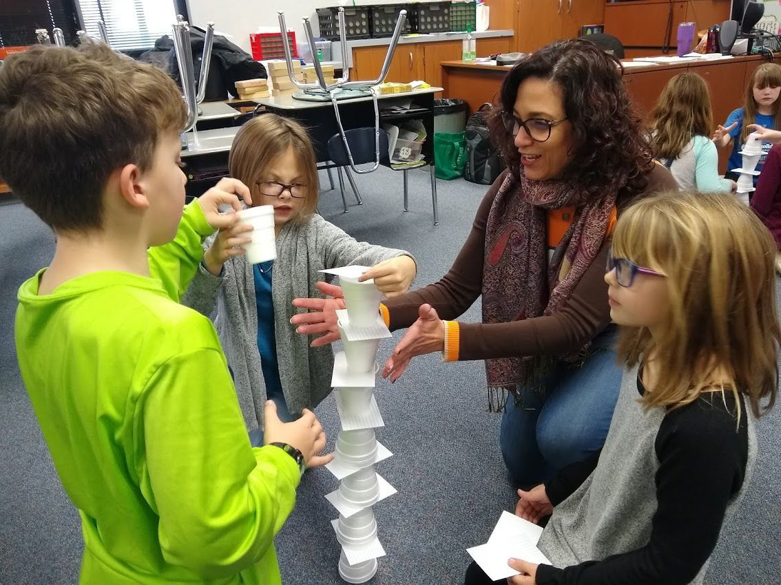 Science Club cup stacking