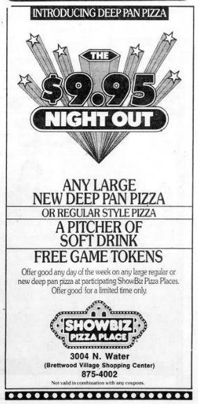 Showbiz Pizza Ad