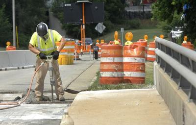 Road work over Sugar Creek