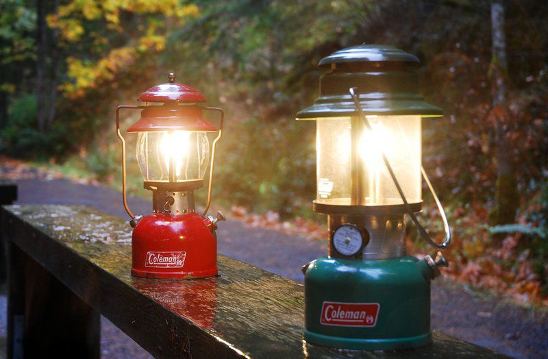 Andy Ostmeyer Gas Ed Coleman Lanterns Create Camping Ambiance