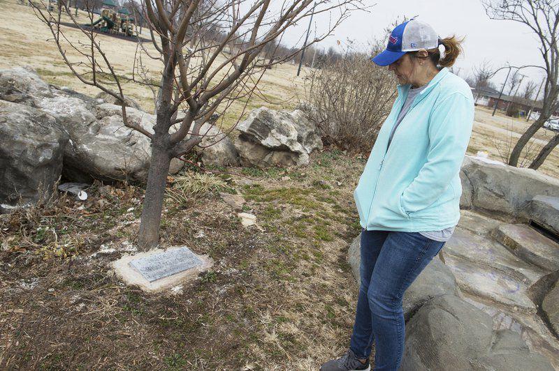 b7e497a29ae Mother seeks understanding after vandals damage son s memorial in Joplin  park