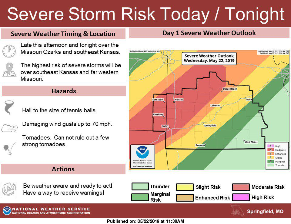 UPDATED: Much of region in tornado watch | News ...