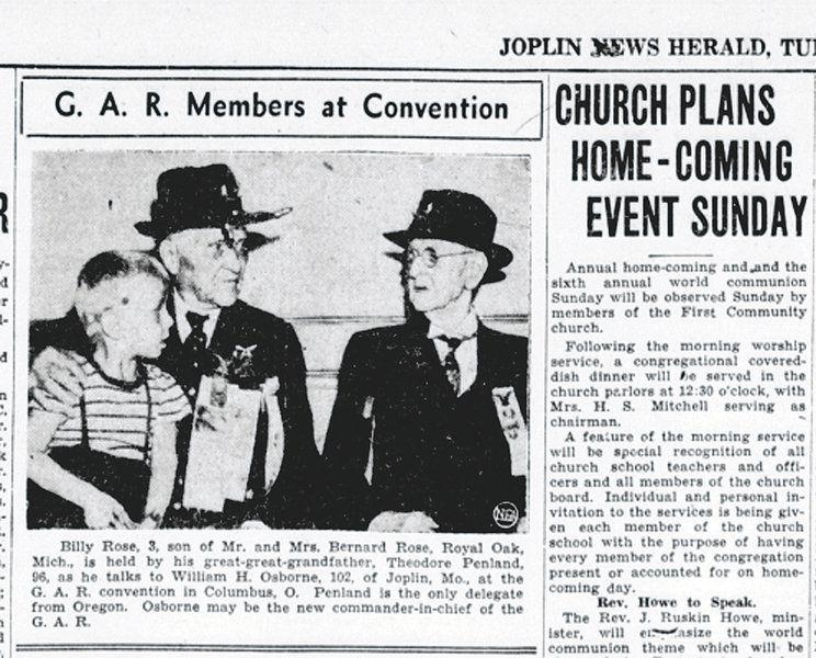 Bill Caldwell: Union veterans formed Joplin's O.P. Morton Post No. 14