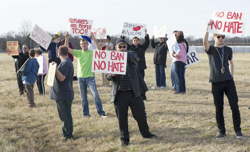Travel ban protests spread to Joplin Regional Airport