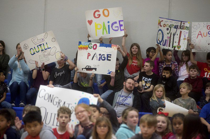 Make-A-Wish grants trips to three Carthage children in one assembly