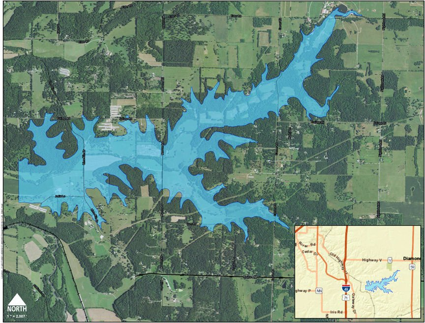 Missouri American site for planned reservoir.