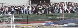 About 100 Joplin High School students participate in walkout