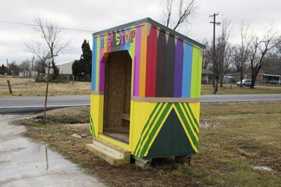 Bus stop built along Newman Road where girl was killed in September