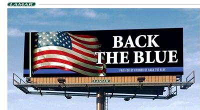 'Back the Blue' billboard