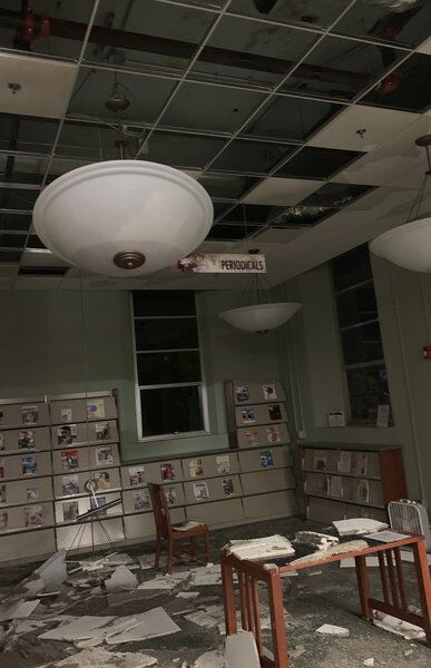 Carthage library closed because of water damage
