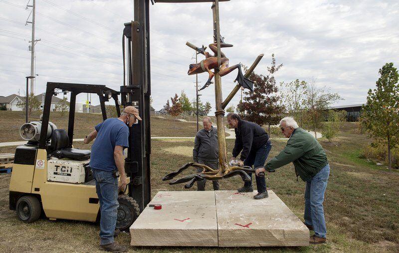 Three more sculptures installed in Joplin's Mercy Park