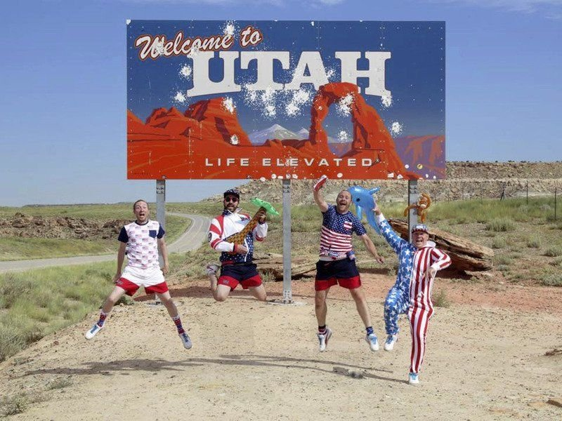 Four guys set record for fastest trip through 50 states
