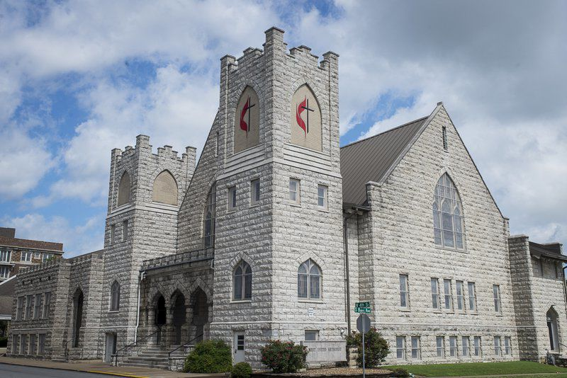Begun in a saloon, congregation meets in castle-like church