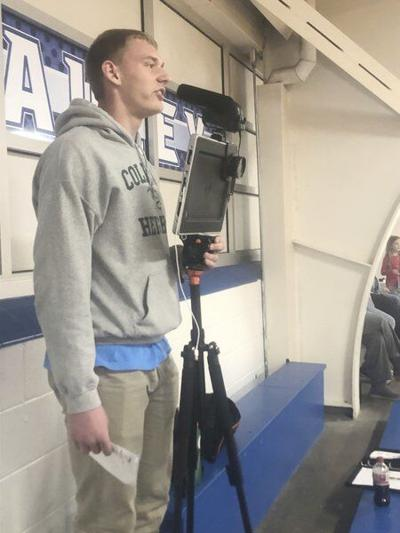 From volleyball manager to play-by-play man, College Heights sophomore has newfound love for sports broadcasting
