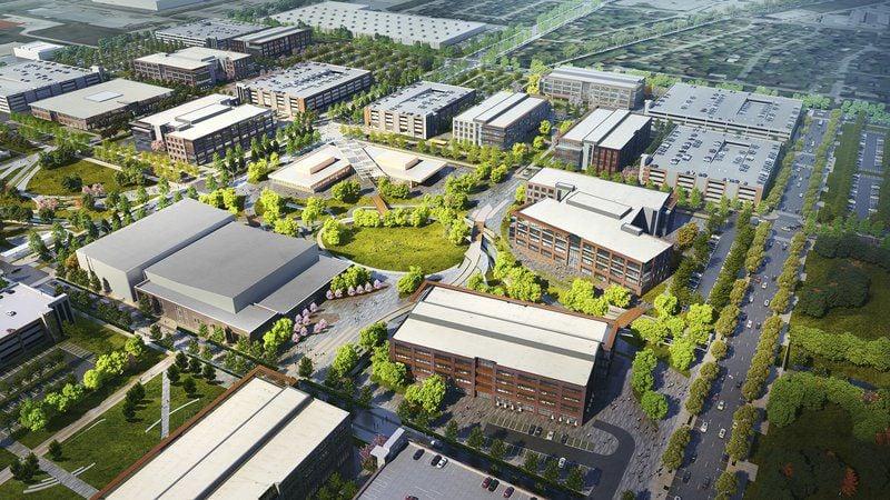Work underway on Walmart's new headquarters campus in Bentonville