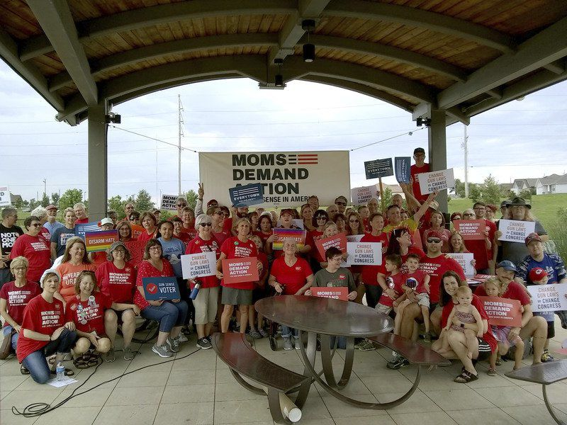 Moms Demand Action groups hold rally calling for tougher gun legislation in wake of mass shootings