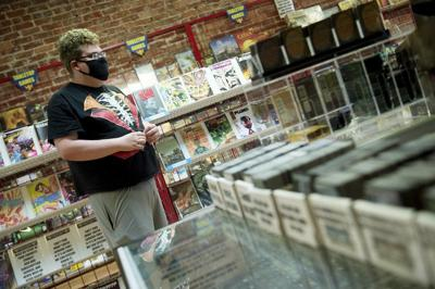 Several local businesses require customers to wear masks