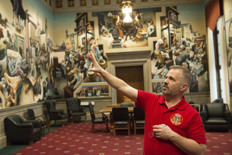 Capitol murals, including those by Thomas Hart Benton, focus of conservation efforts