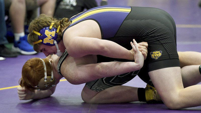Seneca nips Monett by 1 point for Big 8 wrestling title