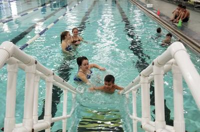 Carthage students learn water safety with Lamar swim team