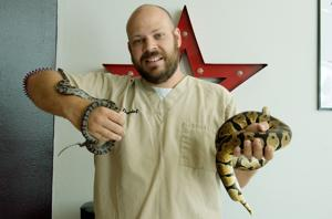 'Snakes … have  interested me since I was a kid.'  Joplin man keeps snakes as pets
