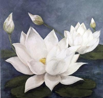 Alice Lynn Greenwood Mathe White Lily Blossoms Symbolize