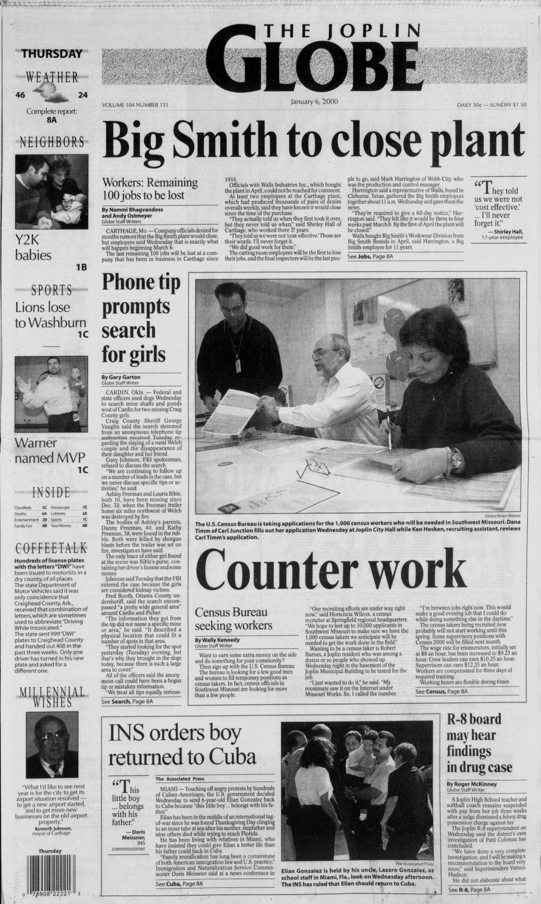 Jan  5, 2000 | | joplinglobe com