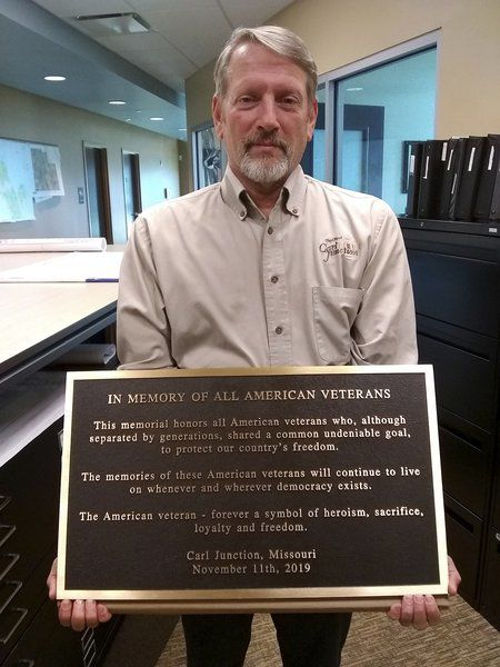 Carl Junction Veterans Memorial dedication moved to next year because of weather delays