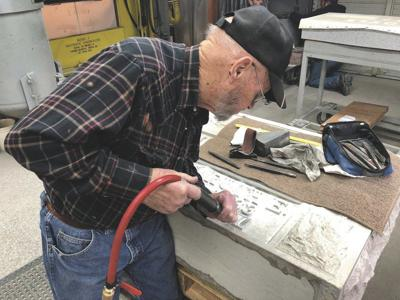 Last living Carthage Marble stone carver completes last monument to come from company
