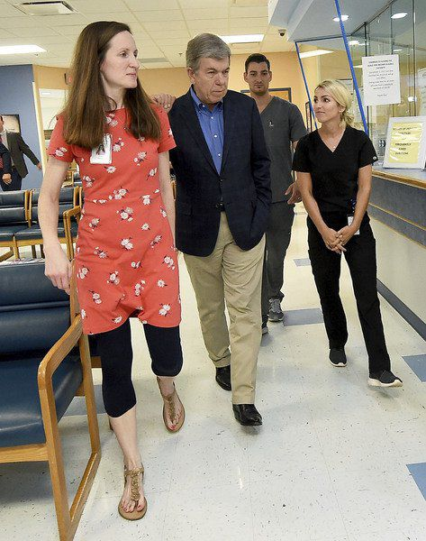 Blunt tours expanded Access Family Care center