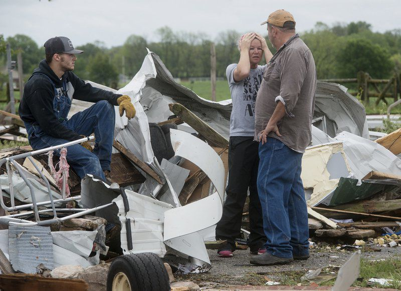 Residents begin surveying damage as tornadoes confirmed near Wheaton, Purdy, Miller