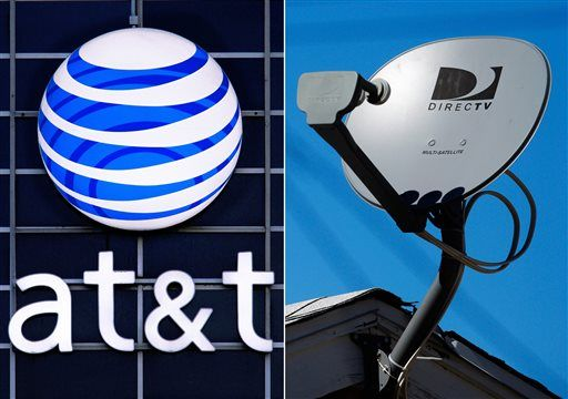 Charming This File Combo Made From File Photos Shows The ATu0026T Logo On The Side Of A  Corporate Office In Springfield, Ill., Left, And A DirecTV Satellite Dish  Atop A ...