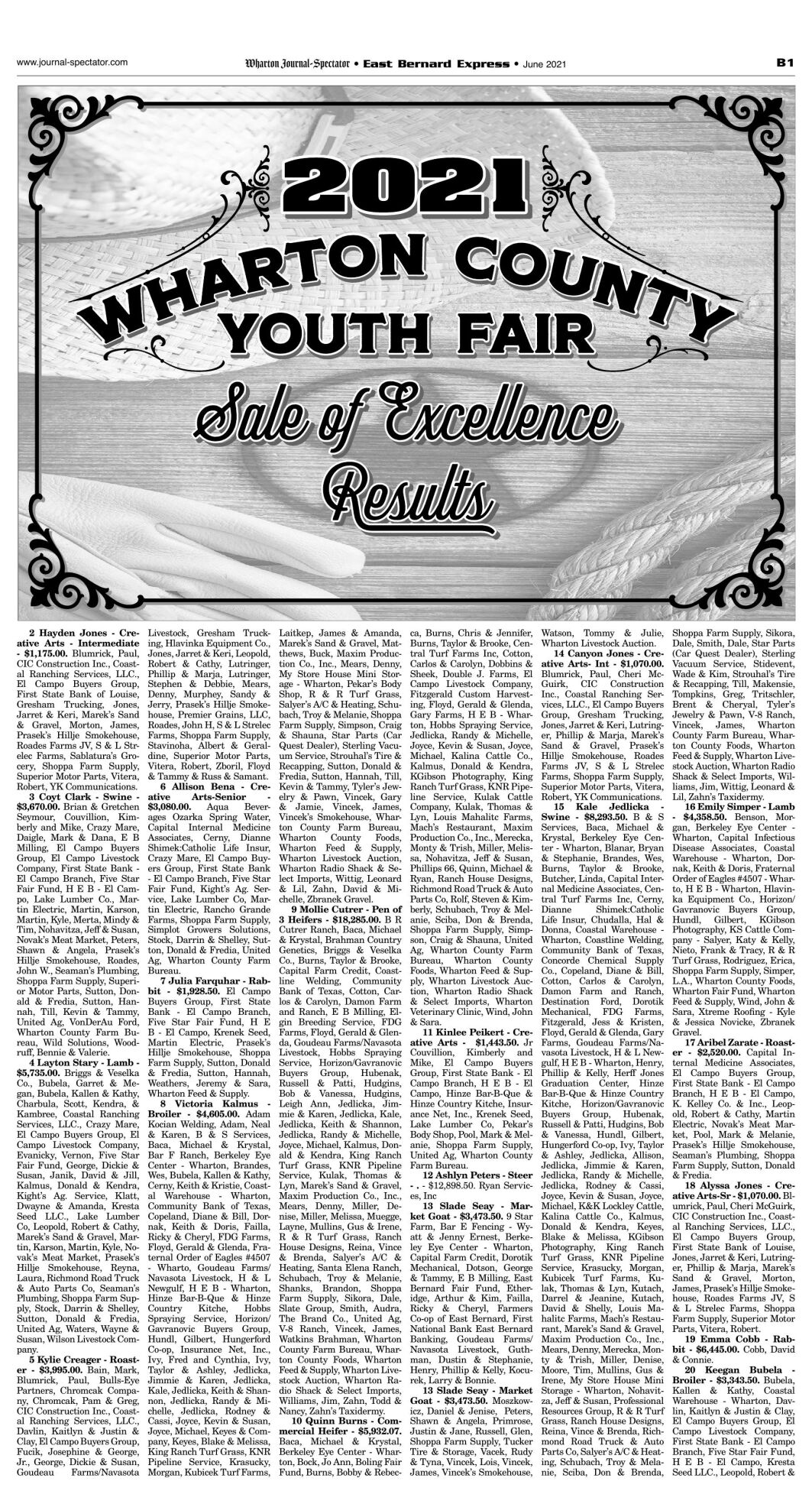 WCYF Sale of Excellence 2021
