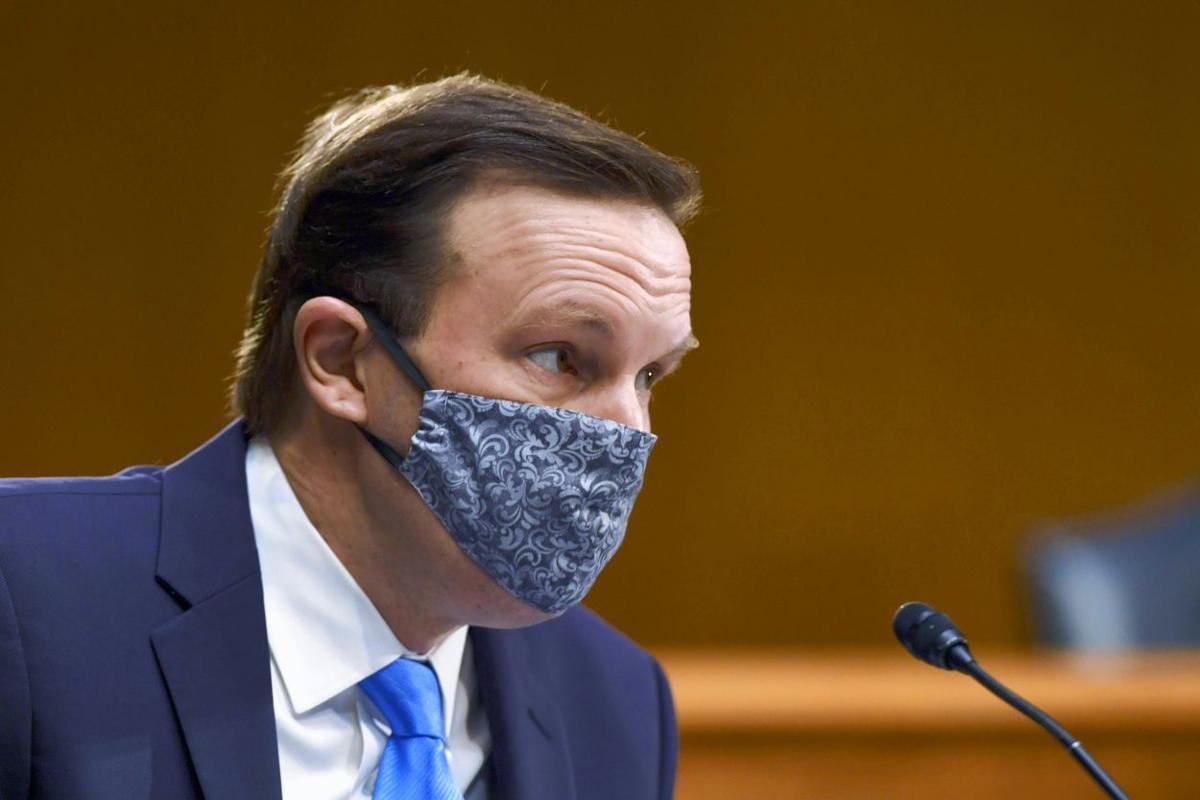 Murphy in a mask