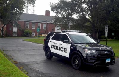 File: Glastonbury police car