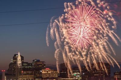 Riverfront fireworks