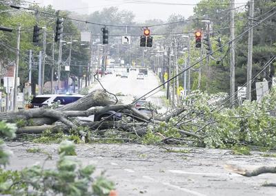 East Hartford storm damage in August 2020