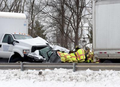 Eight transported to hospitals after four-vehicle crash on Route 2