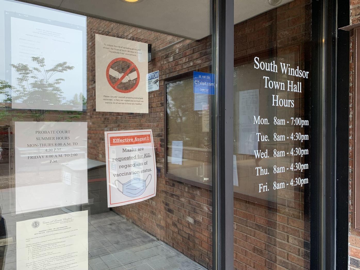 South Windsor Town Hall front door
